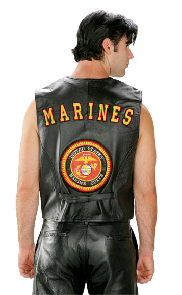 Marine Leather Vest