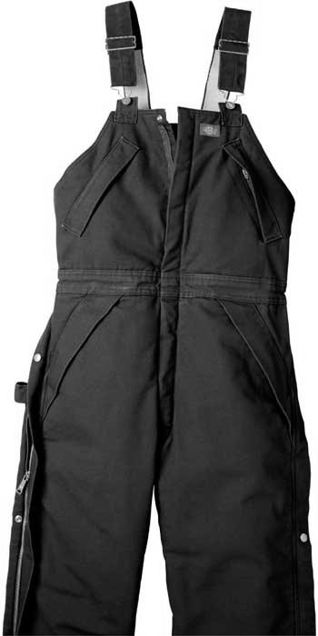 Dickie Insulated Black Bib Ovealls