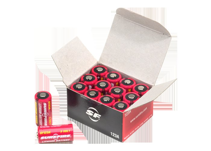 SureFire Box of 12 Lithium Batteries