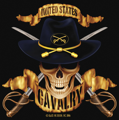 Black Ink U.S. Calvary Tee Shirt