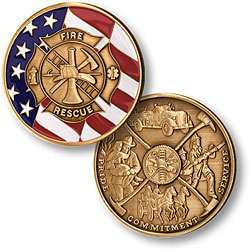 Fire Dept Maltese Cross Challenge Coin
