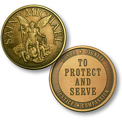 St Michael To Protect and Serve Enforcement Challenge Coin