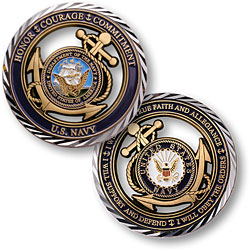 Navy Core Values Challenge Coin