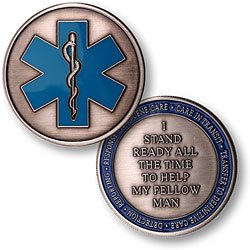 Medical Star of Life EMS Mission Statement Challenge Coin