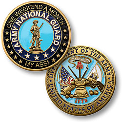 One Weekend A Month Army National Guard Challenge Coin