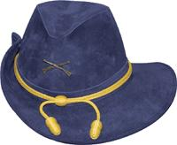Officer's Leather Blue Civil War Hat