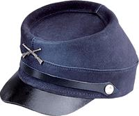 Blue Leather Civil War Cap