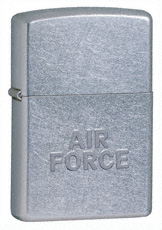 Air Force Stamped Street Chrome Zippo
