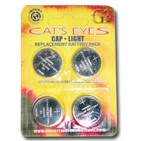 Batteries for 5 LED Cap Light Set of 4 Batteries-Bargain Pak