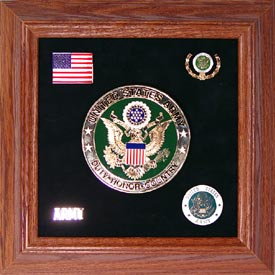 Army Medallion Framed 4 Round with Pins