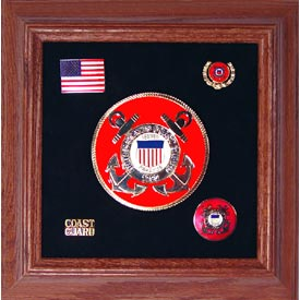 Medallion USCG Framed 4 Round with Pins