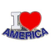 I Heart America USA Pin