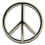 Peace Sign Cut Out Pin