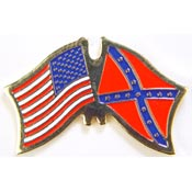 Rebel / USA Flag Pin