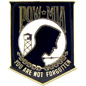POW/MIA You're Not Bk Pin