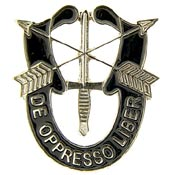 Army Special Forces de Oppresso Libre Pin