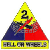 Army 2nd Armored Division Pin Hell on Wheels