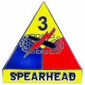 Army 3rd Arm Division Pin Spearhead