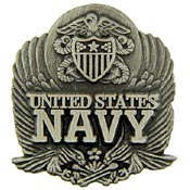 USN Logo Pewter Pin