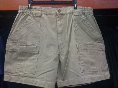 Washed Khaki Camp Short