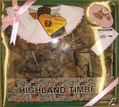 Highland Timber Infant Girls Dress Bloomers and Hat