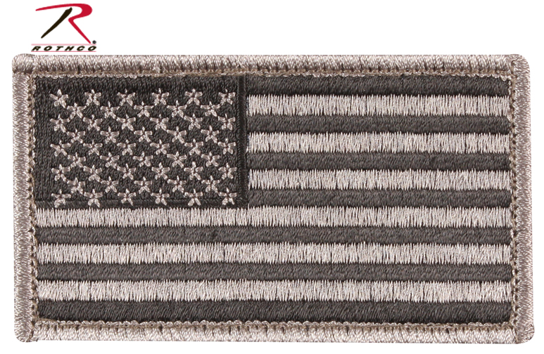 US Flag Foliage Green w/Velcro