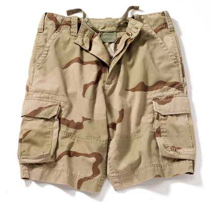 Kids Tri Color Desert Vintage Paratrooper Shorts