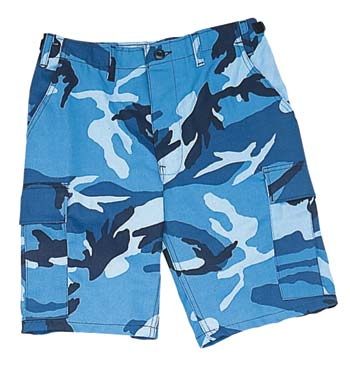 Blue Camo BDU Shorts