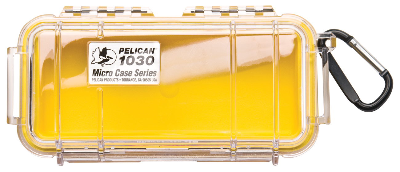 1030 Micro Case Clear & Yellow