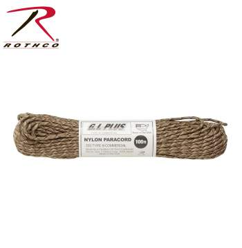 Desert Camo 550 Cord is great for making Survival Bracelets