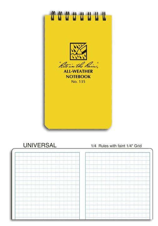 3 x 5 Notebook Yellow