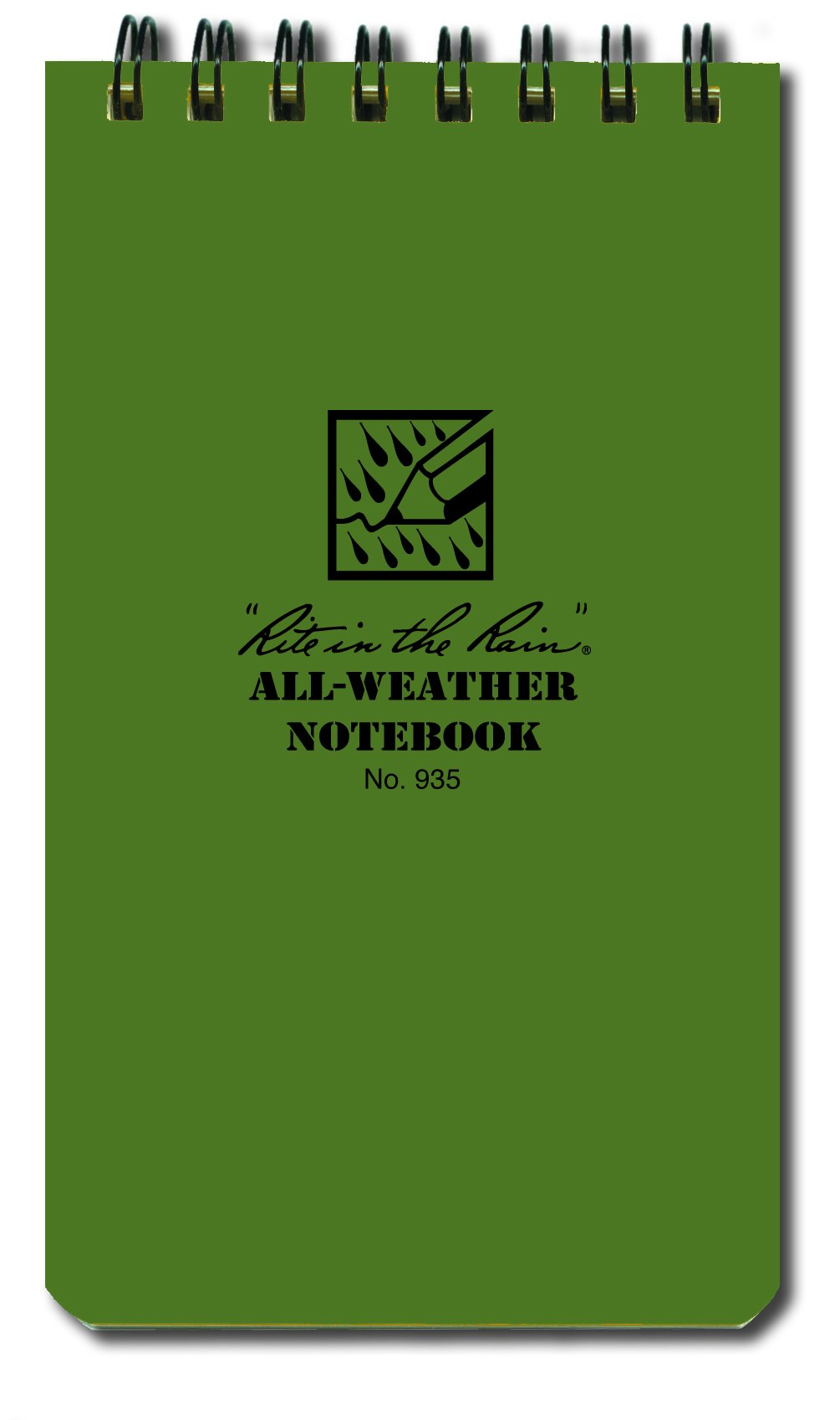3 x 5 Notebook Green