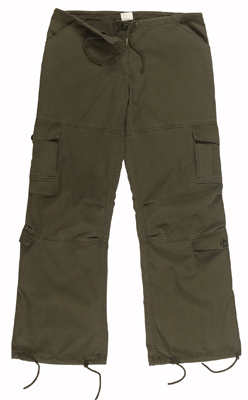 Ladies OD Vintage Paratrooper Pants