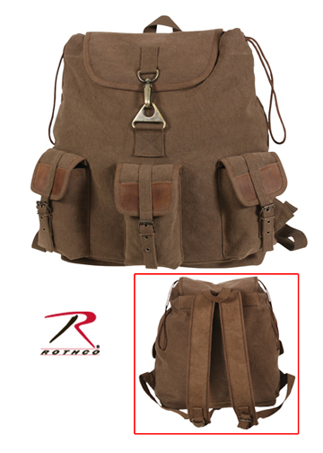Rothco Leather and Canvas Wayfarer Bag