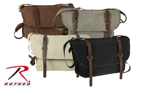 Vintage Canvas Explorer Bag with Leather