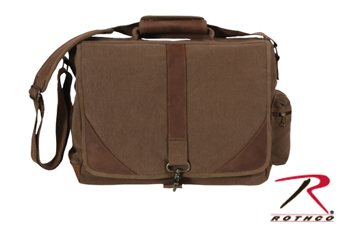 Leather & Canvas Laptop Bag