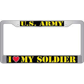 Army Heart License Plate Frame