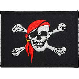 Pirate Flag Red Scarf