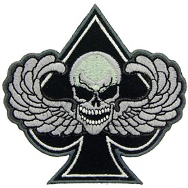 Patch-Death Wing Spade B/W