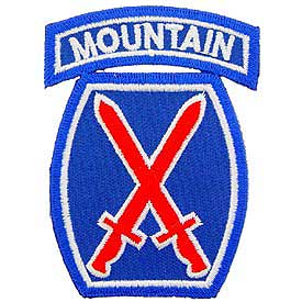 10th Army MTN Division Patch