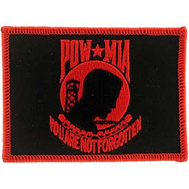 POW/MIA Flag Red/Black