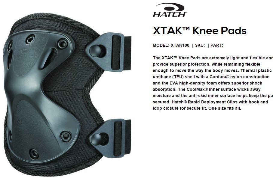 Hatch XTAK 100 Knee Pads