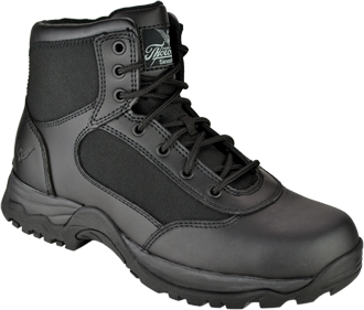 Black 6 Side Zip Uniform Boot