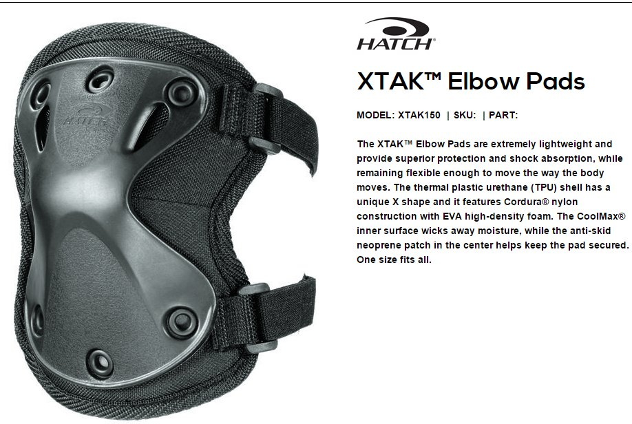 Hatch XTAK 150 Elbow Pads