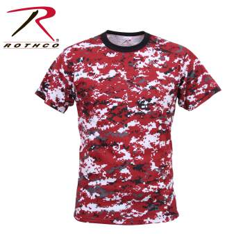 Digital Red Camo T Shirt