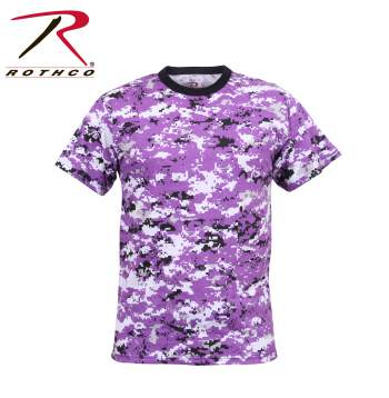 Digital Ultra Violet Camo T Shirt