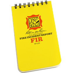 3 x 5 Fire Incident Notebook