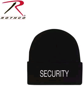 SECURITY Embroidered Acrylic Watch Cap