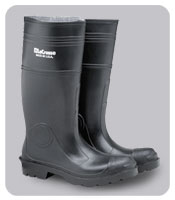 STEEL TOE RUBBER BOOT-BLACK