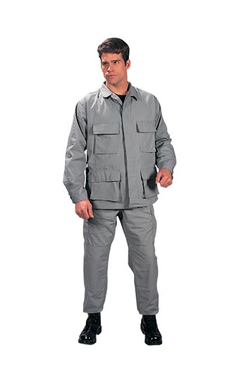 Gray Battle Ripstop Trousers